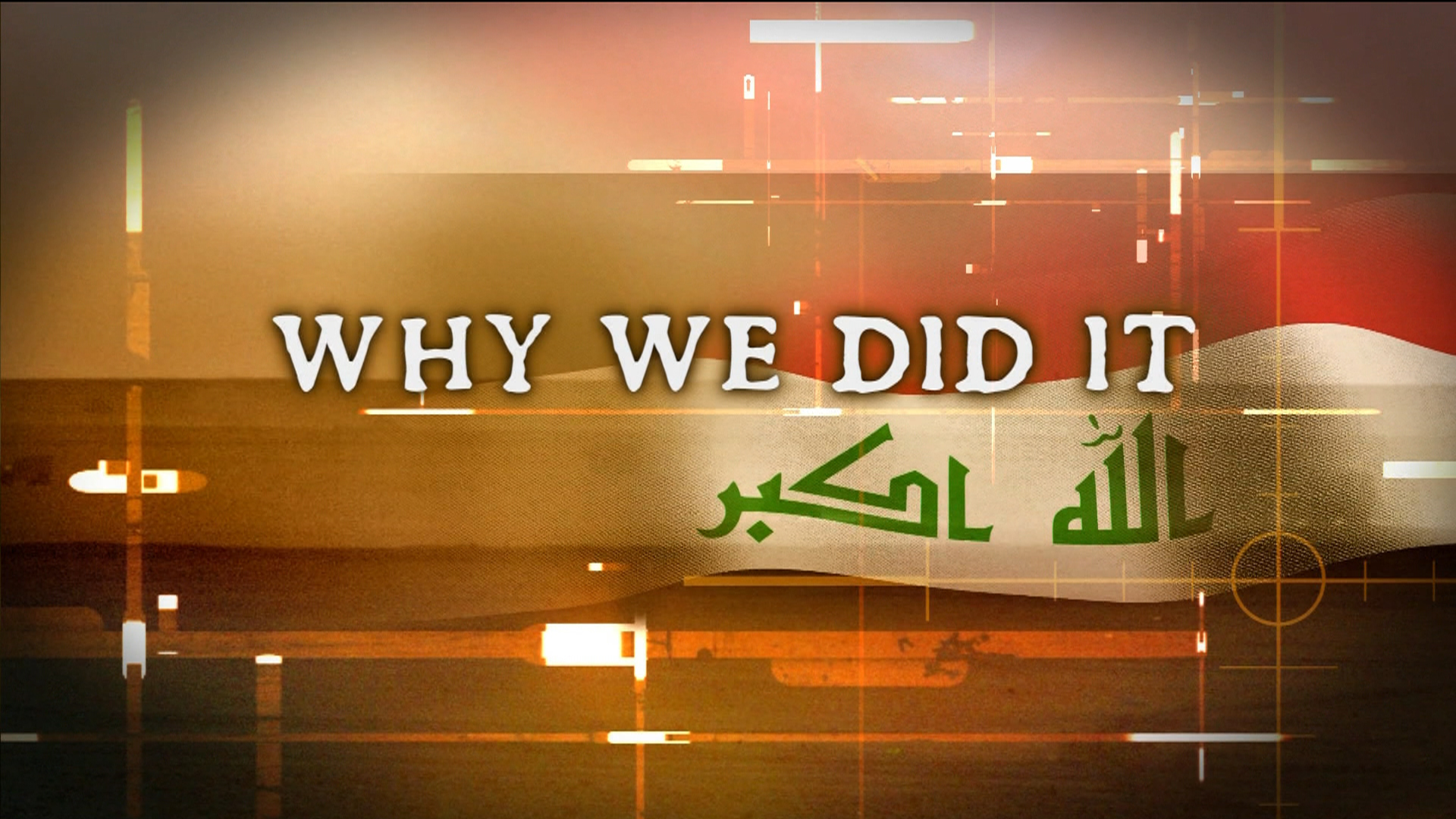 'Why we did it' Part 1, US thirsty for energy
