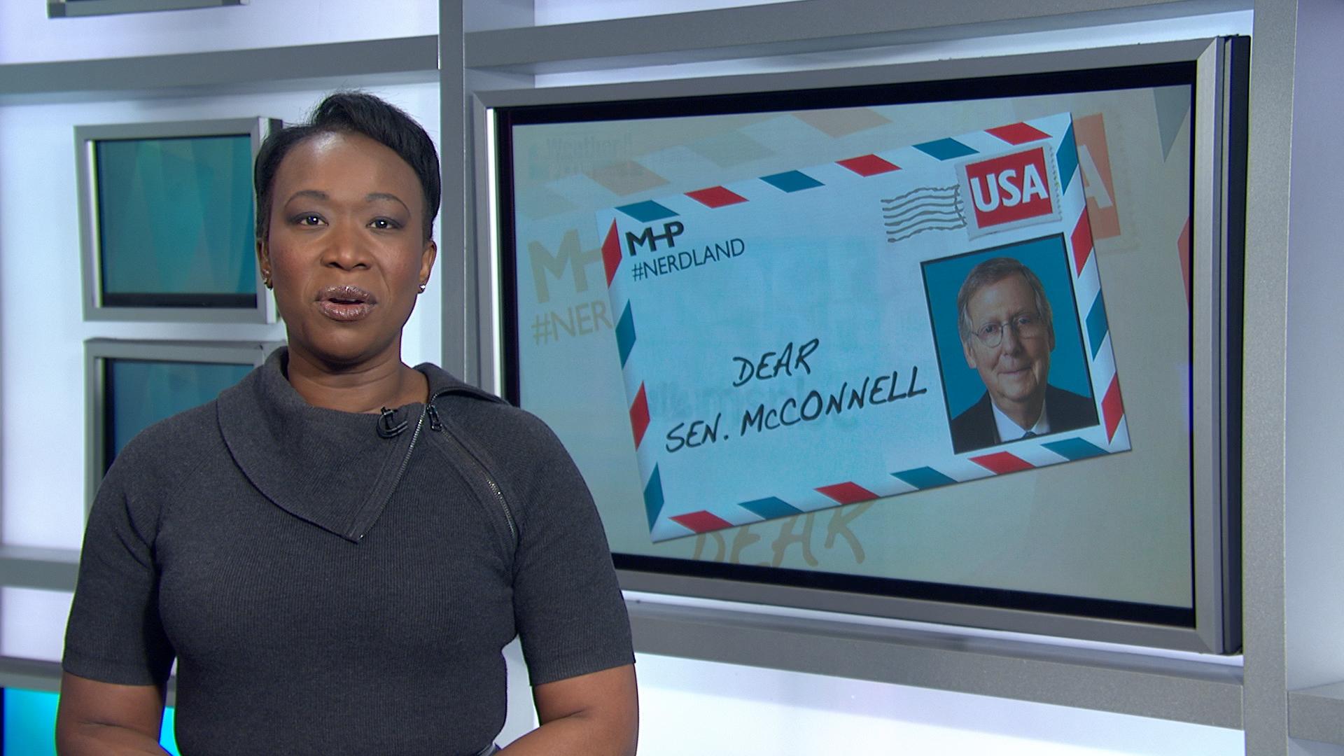 Joy: McConnell's career in danger of sinking