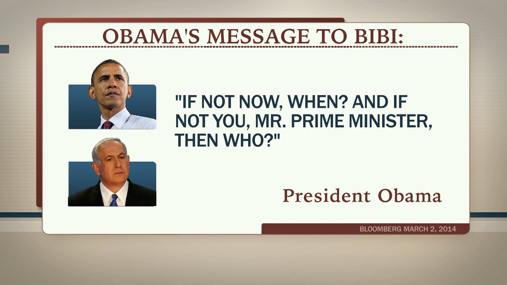 Obama urges Netanyahu to end conflict