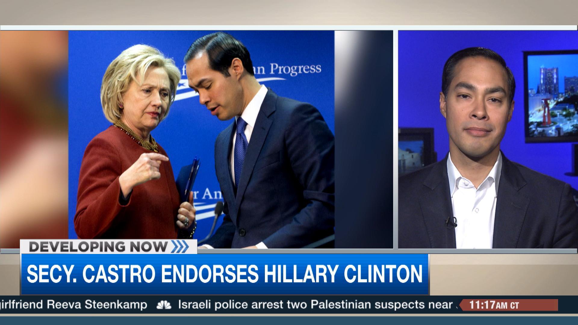 Secretary Castro endorses Hillary Clinton