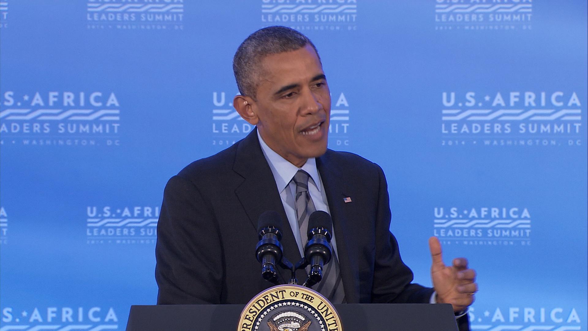 Obama speaks at US-Africa Leaders Summit