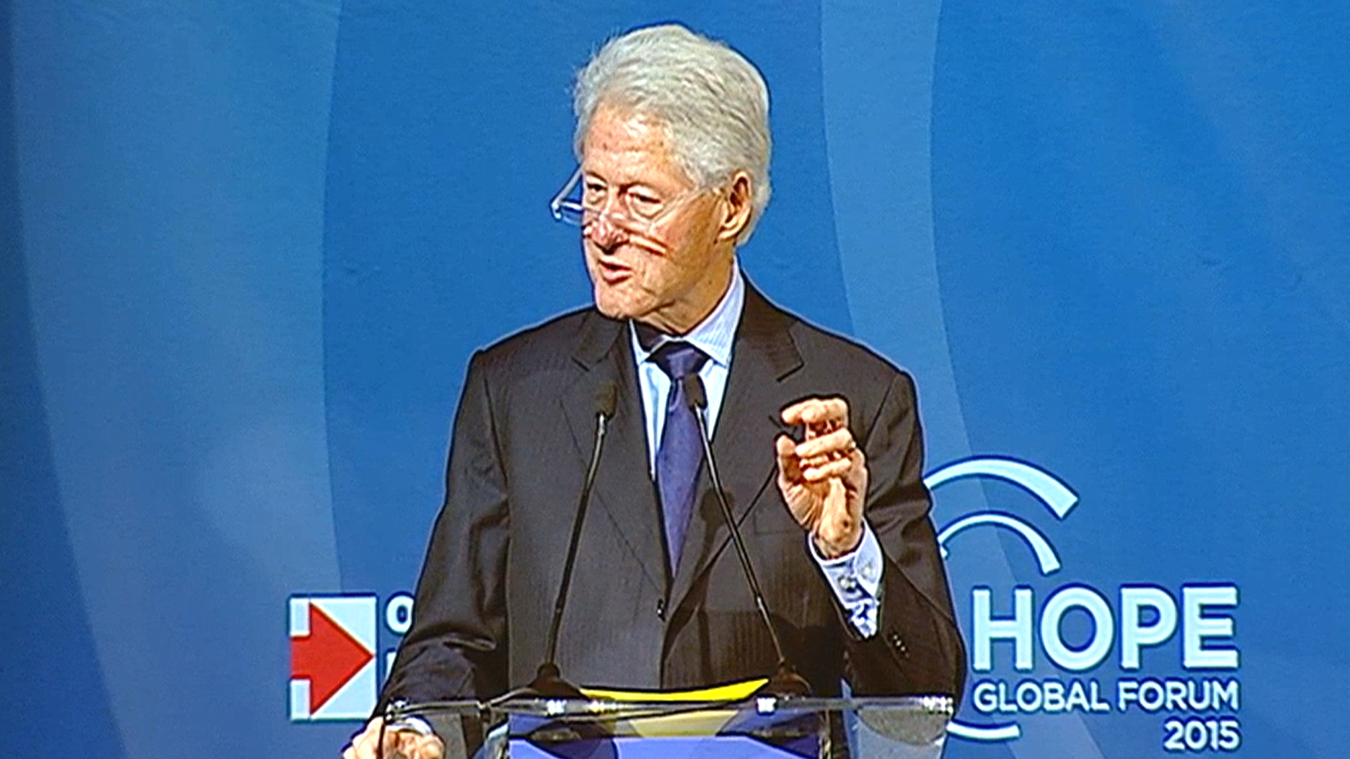 Bill Clinton speaks at HOPE Global Forum