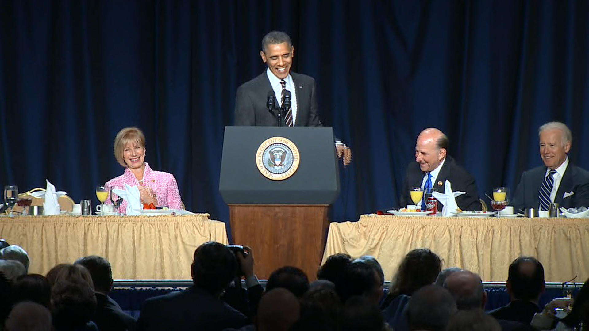 Obama cracks up one of his biggest critics