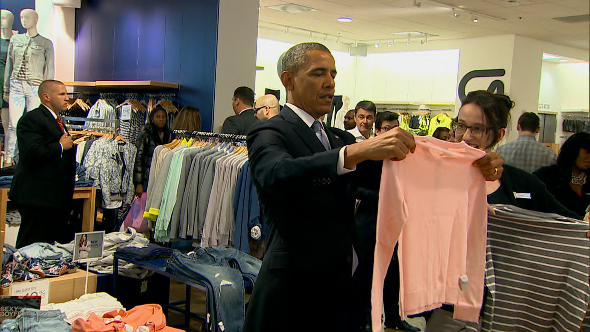 Obama shops at the GAP; Rick Perry in Austin