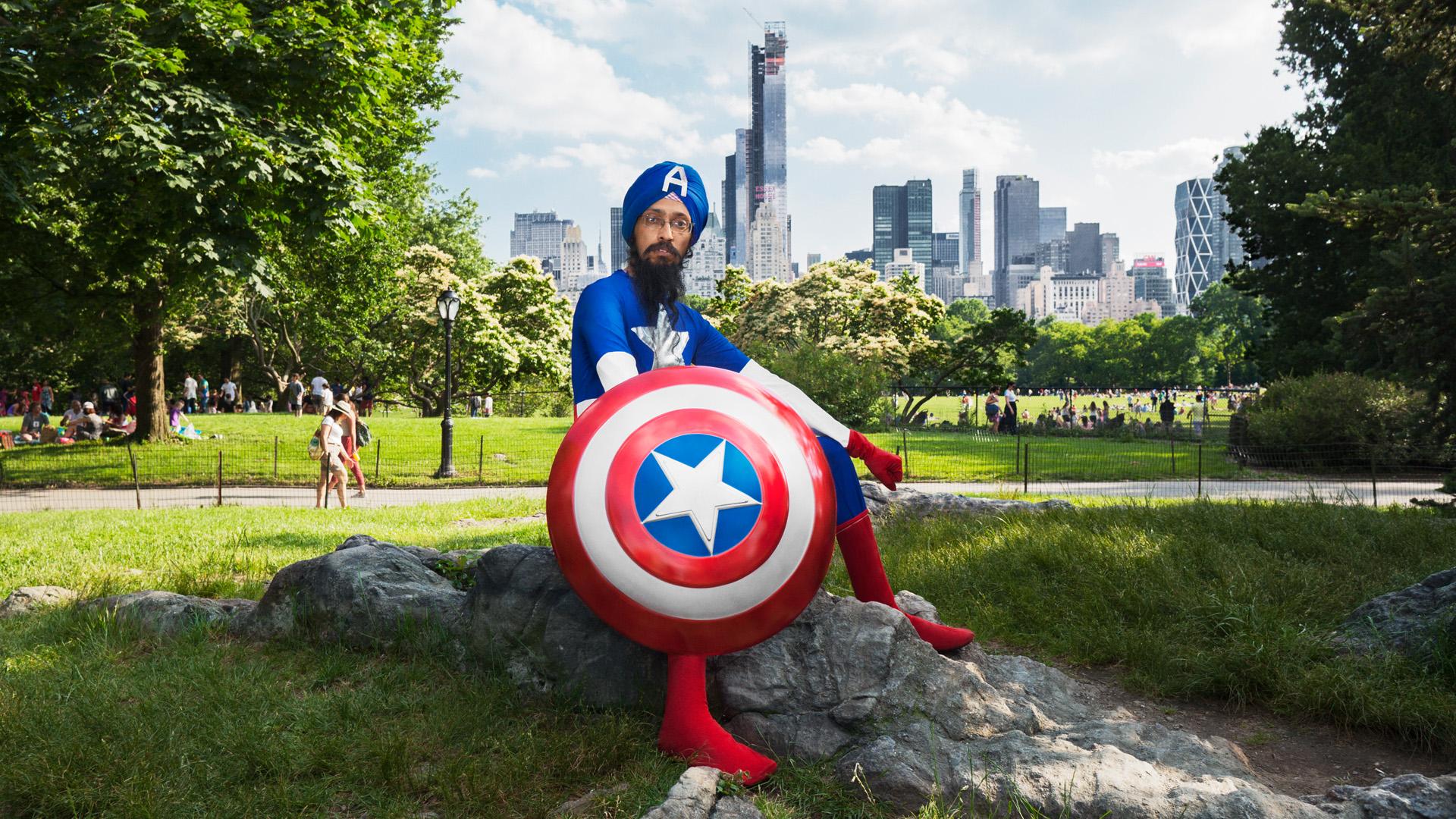 Turbaned Captain America wants to change U.S.