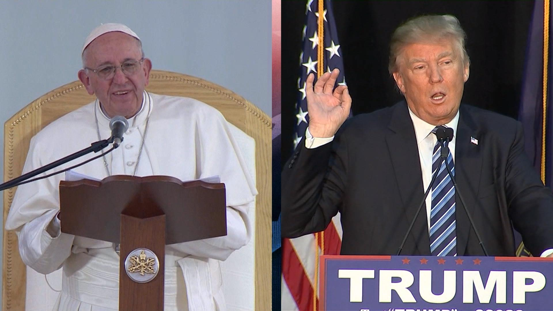 Did the Pope question Trump's Christianity?