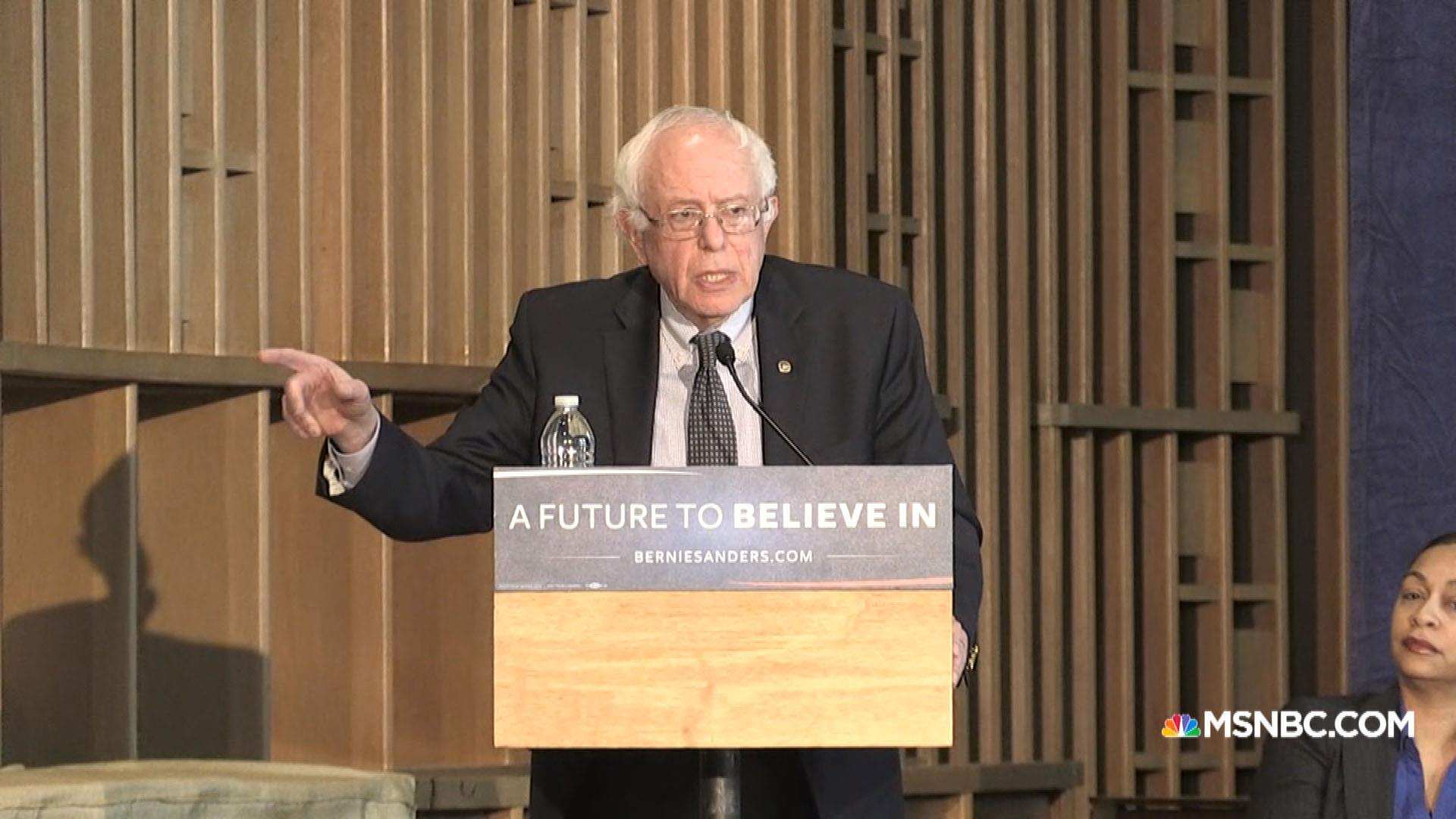 Sanders: Why are you paying for poison water?