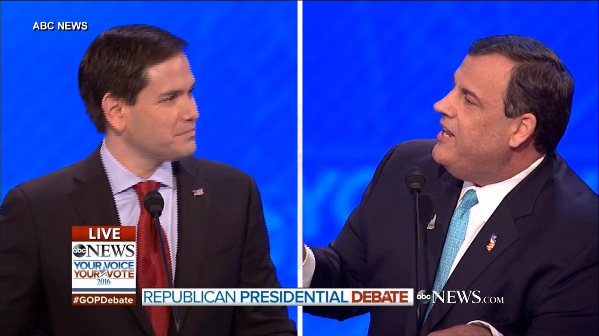Christie shakes Rubio on Senate record