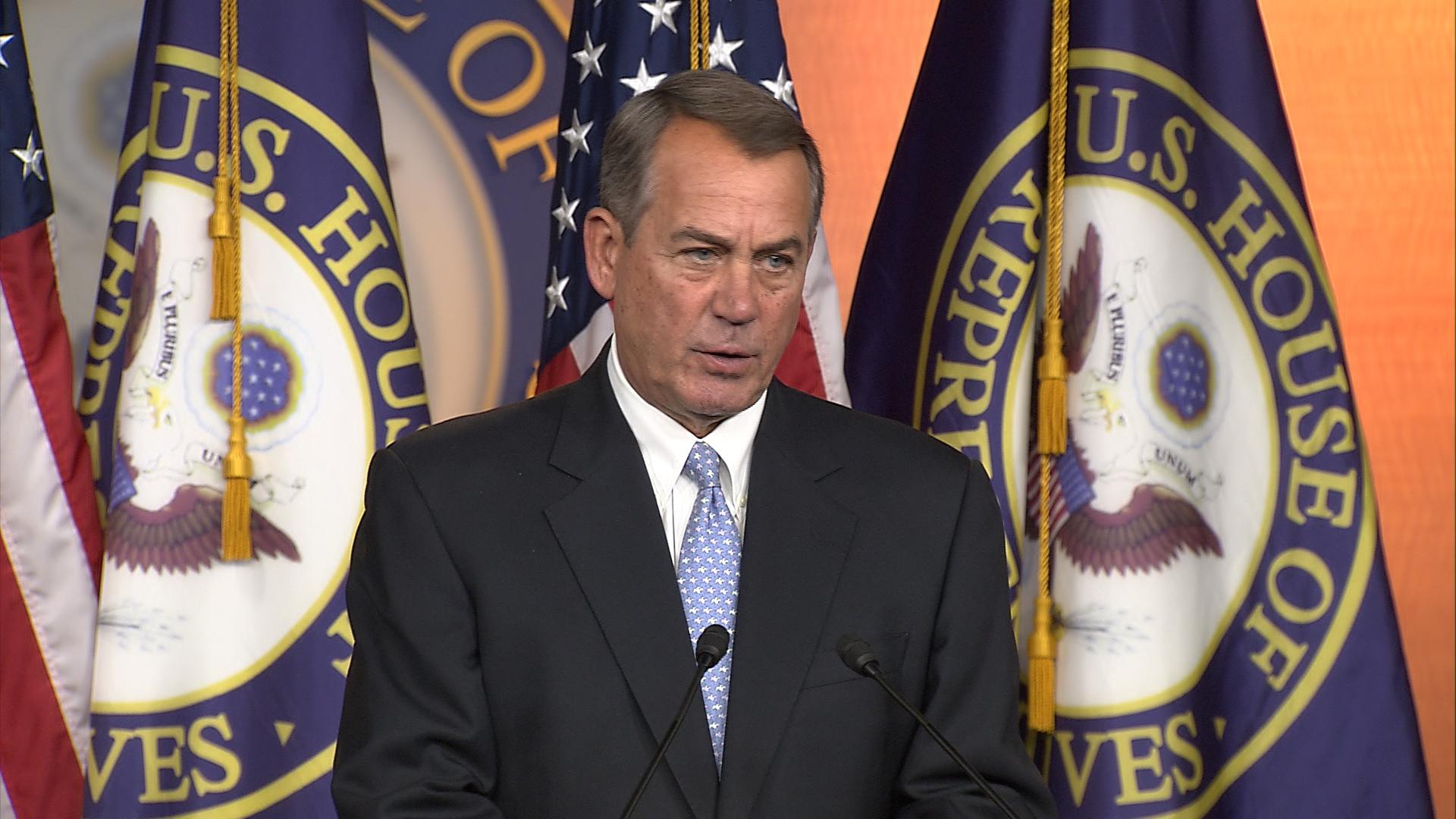 Boehner slams Obama as 'anti-war president'