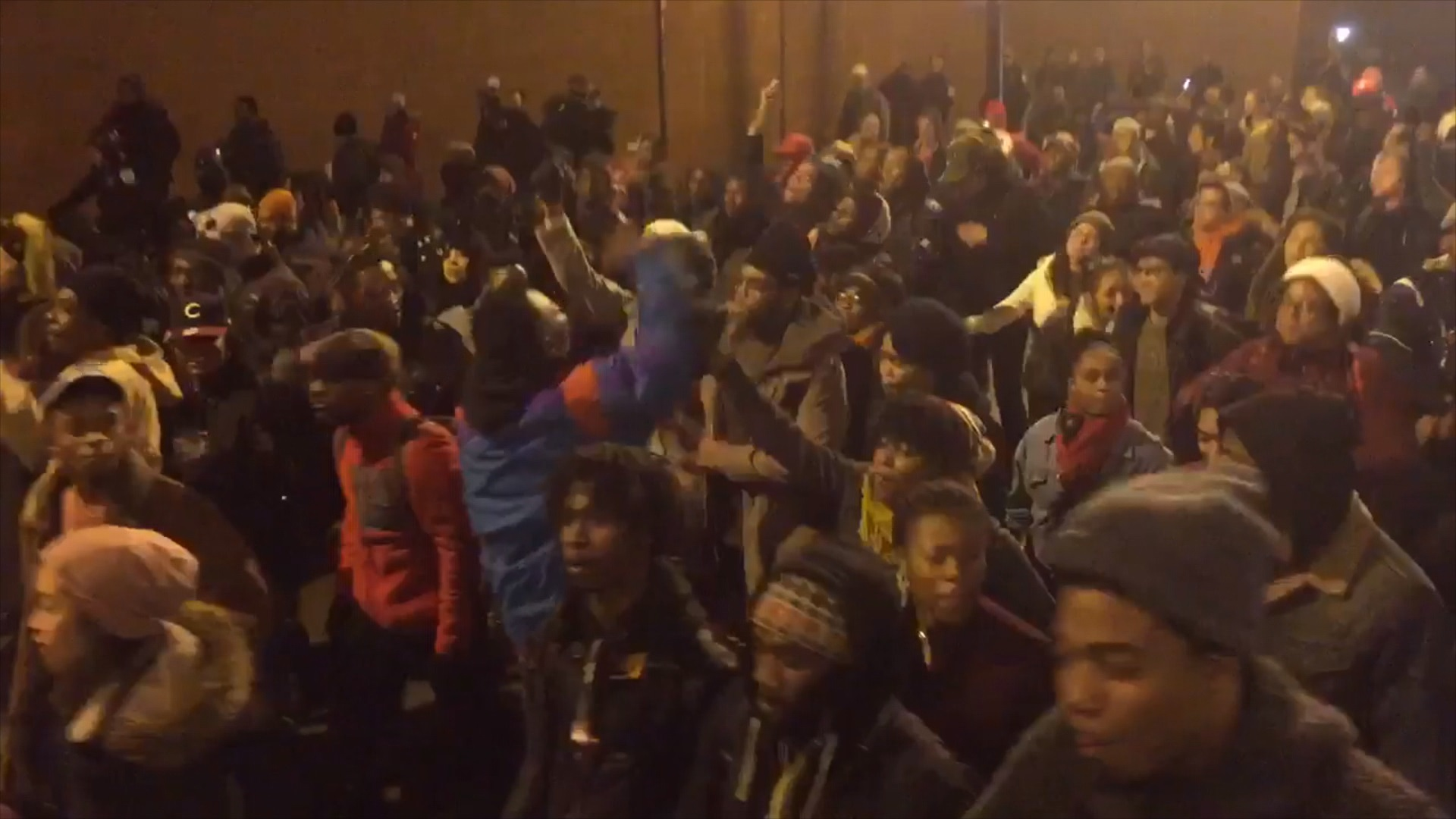 Protesters react to McDonald video release