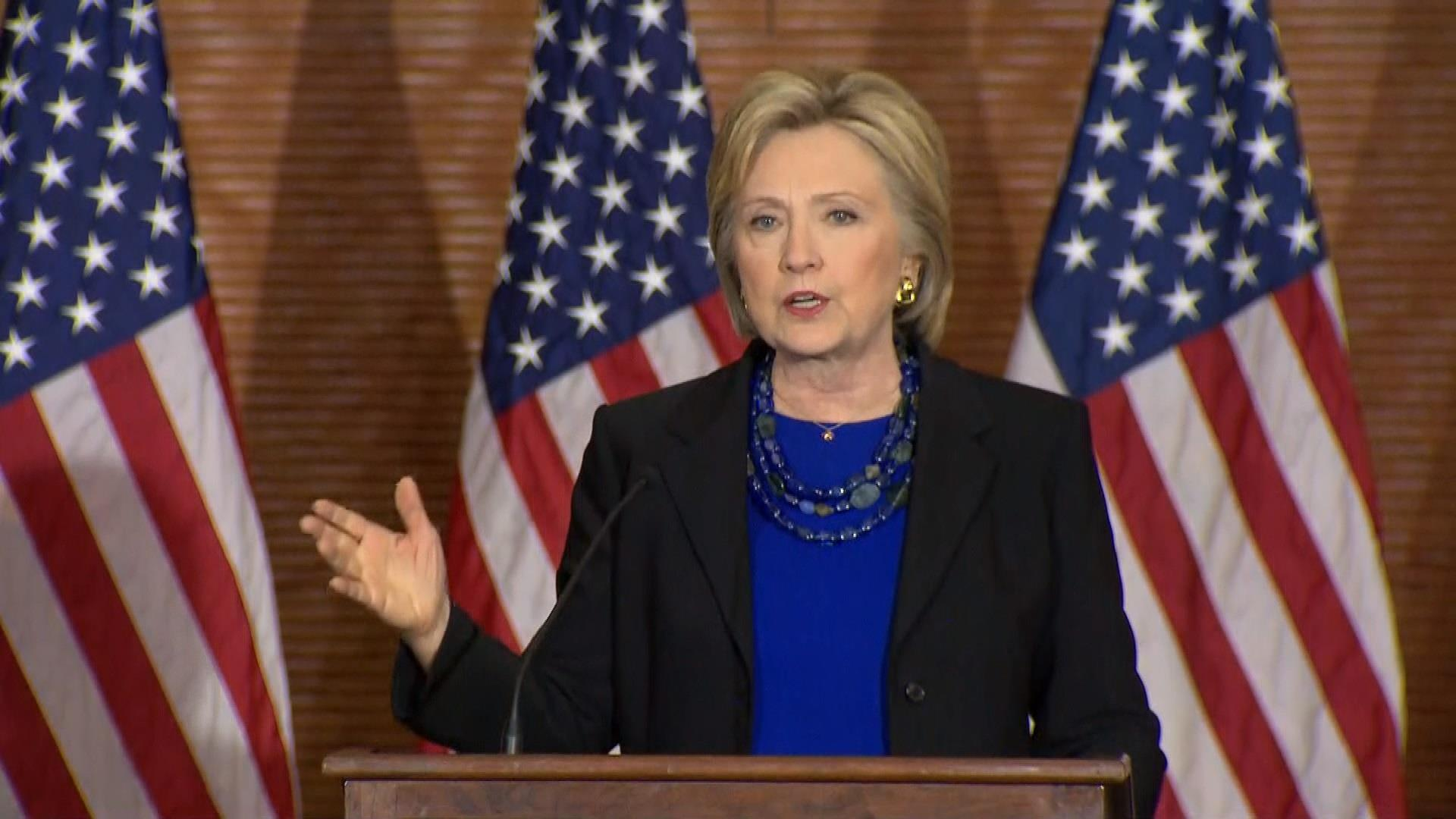 Clinton on the rise of Trump's 'extremism'