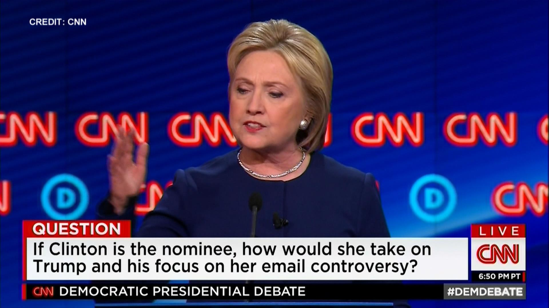 Clinton on running against Trump