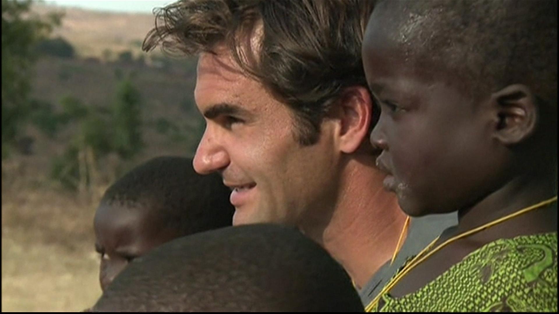 Roger Federer opens Malawi childcare center
