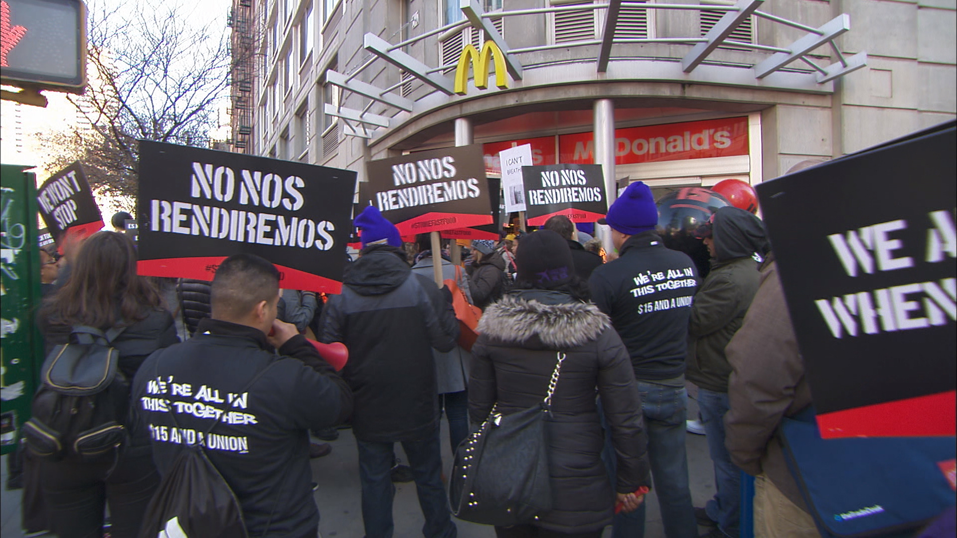 Fast food workers fight for better pay