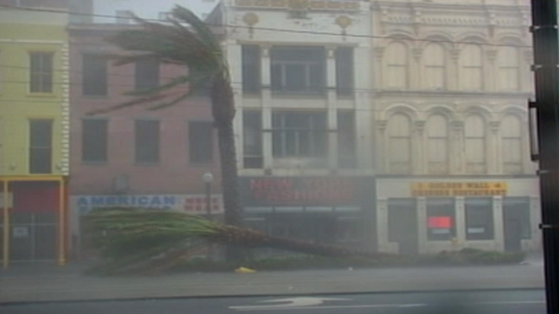 NOLA's Canal Street endures Hurricane Katrina