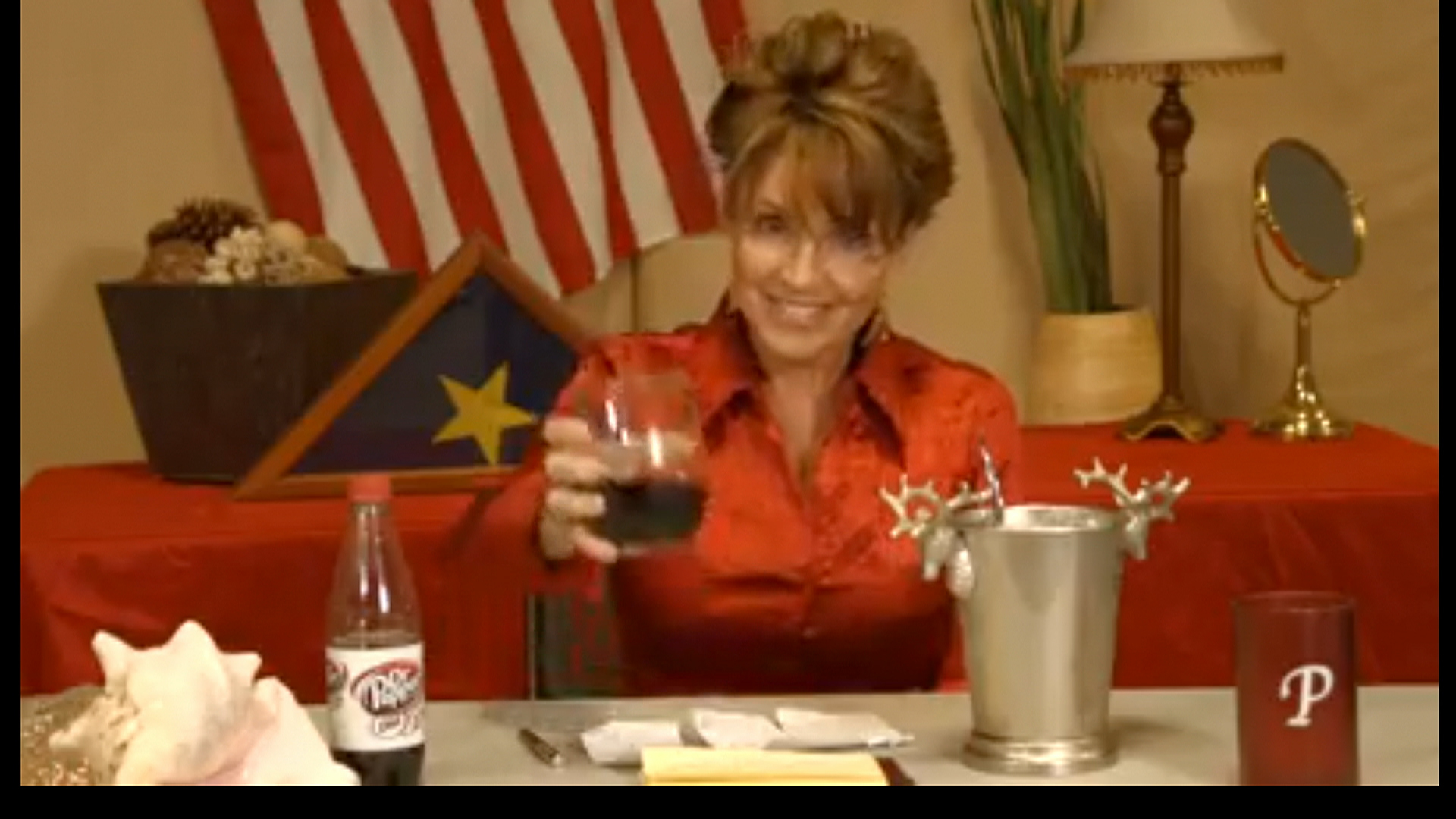 Palin celebrates the ice bucket challenge