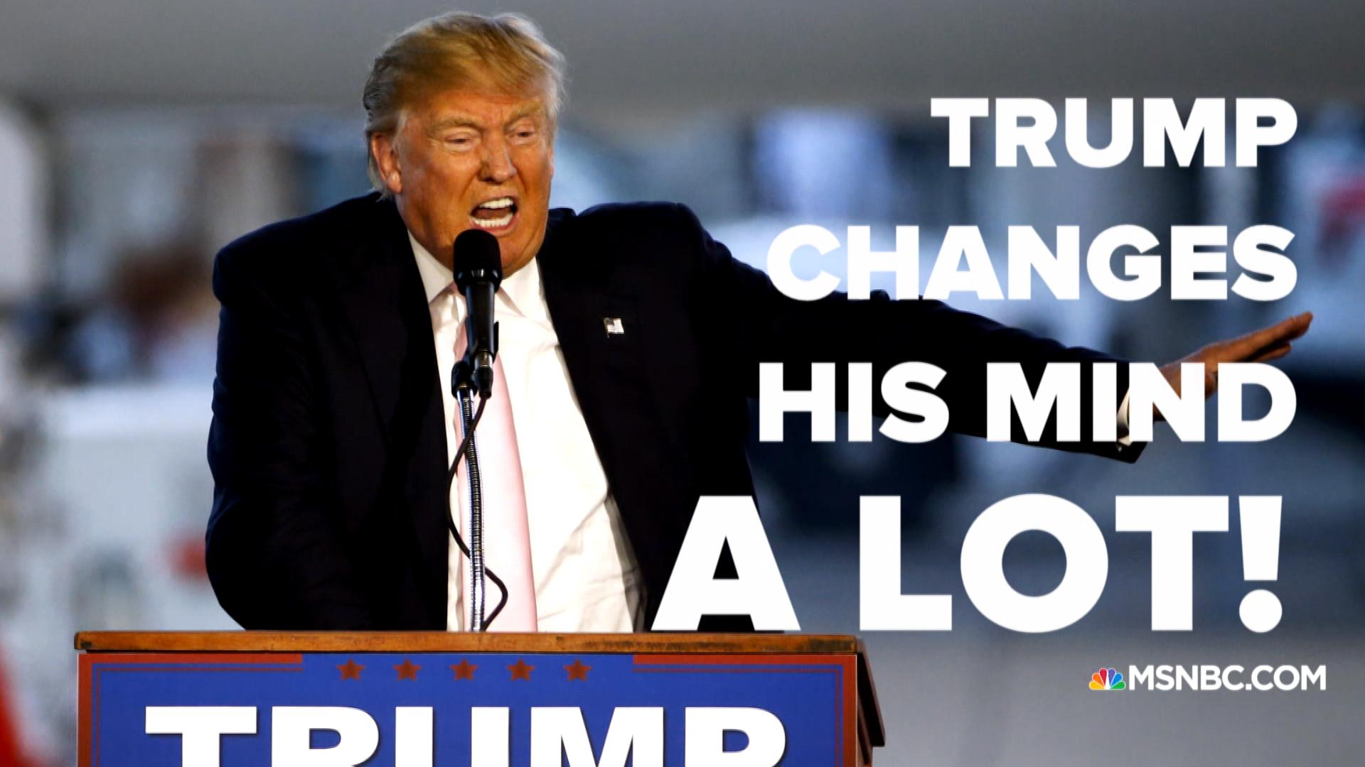 Image result for trump opinion change