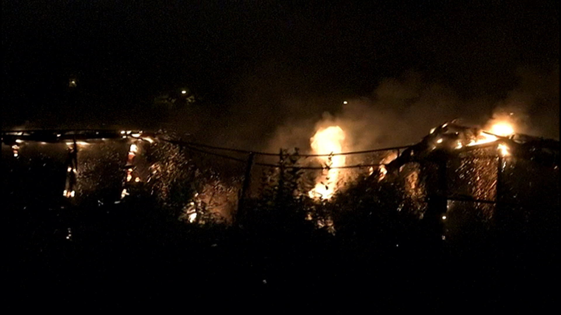 Train trestle collapses in flames in Oregon