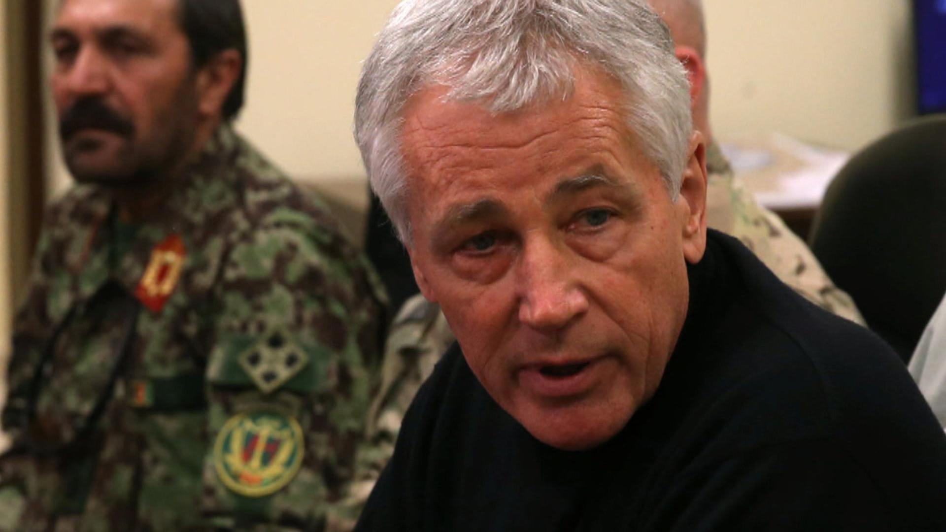 Battle for Hagel on shrinking military budget