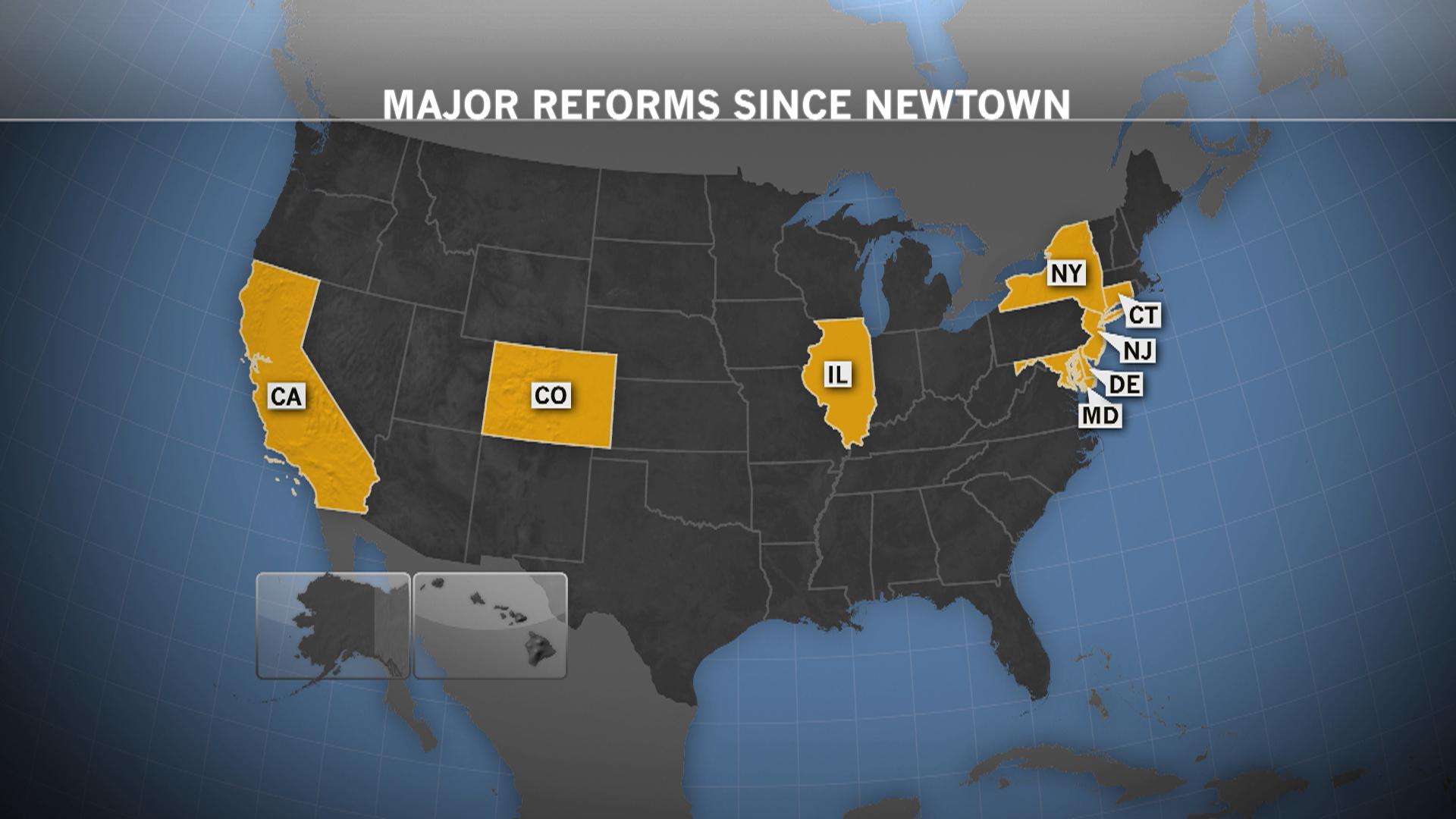 Since Newtown, gun laws have changed