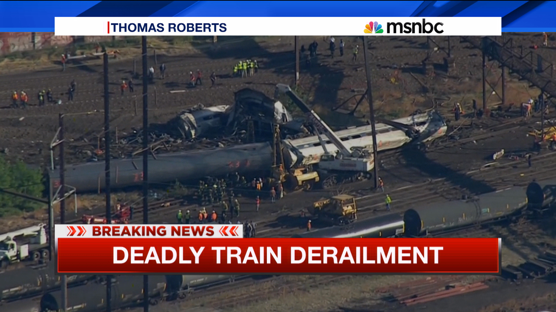 NTSB looking for clues at derailment scene