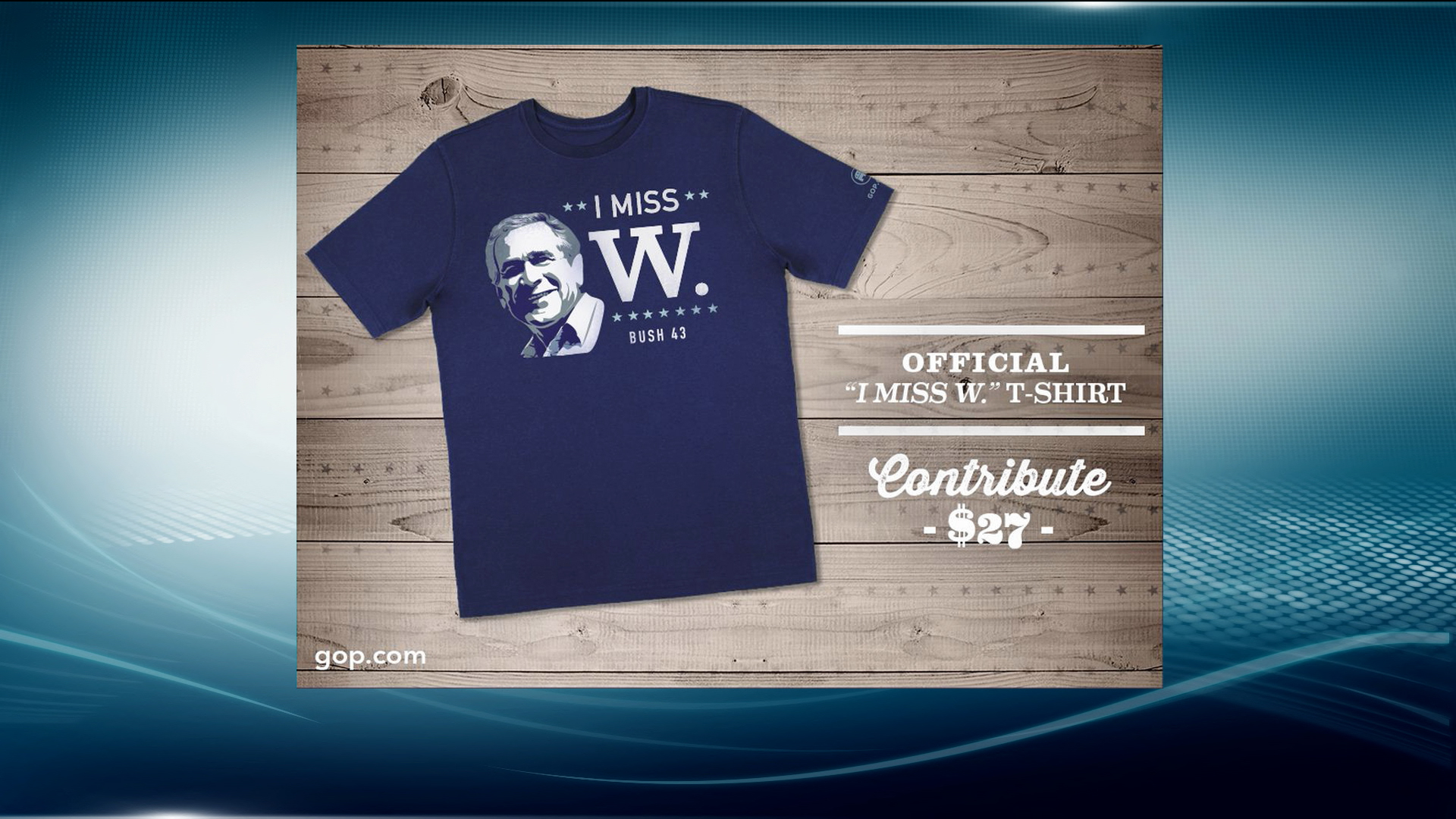 RNC's 'I Miss W.' t-shirt celebrates Bush