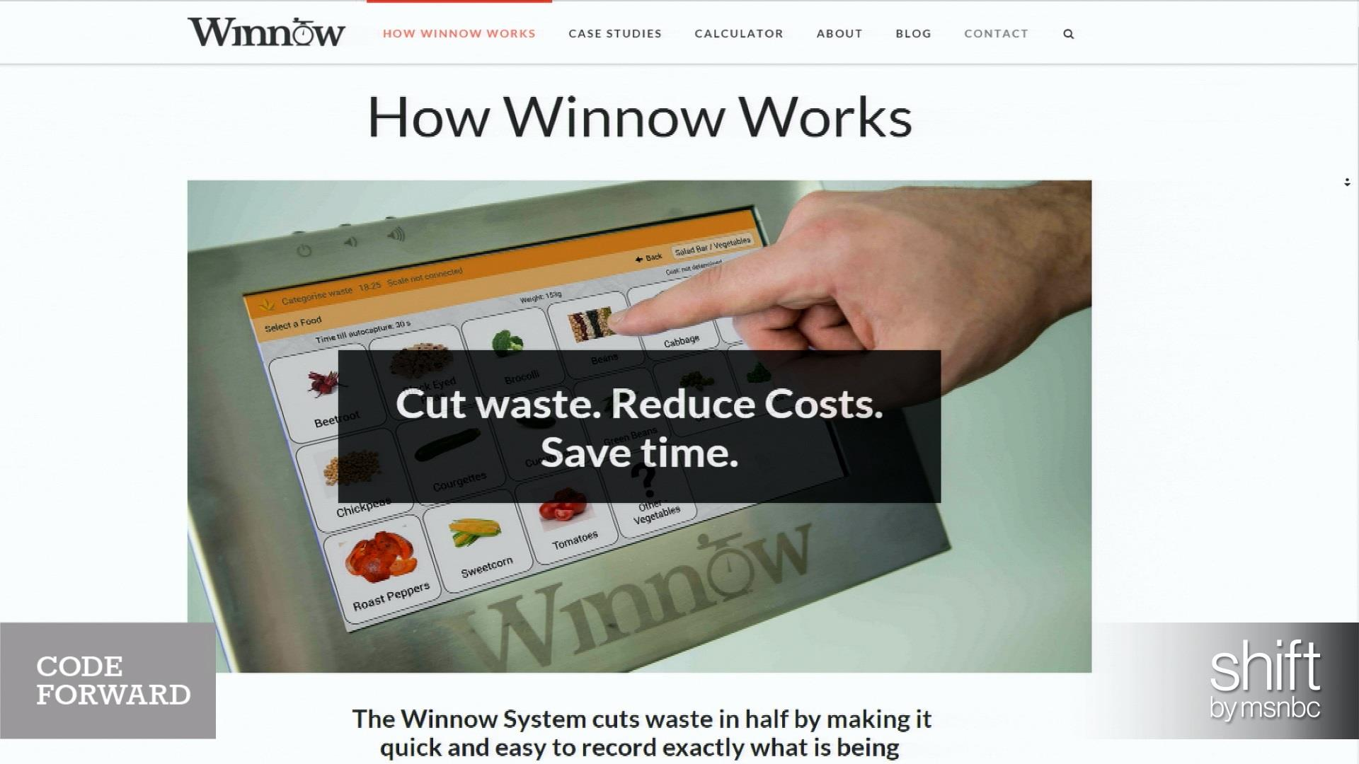 Technology takes a bite out of food waste