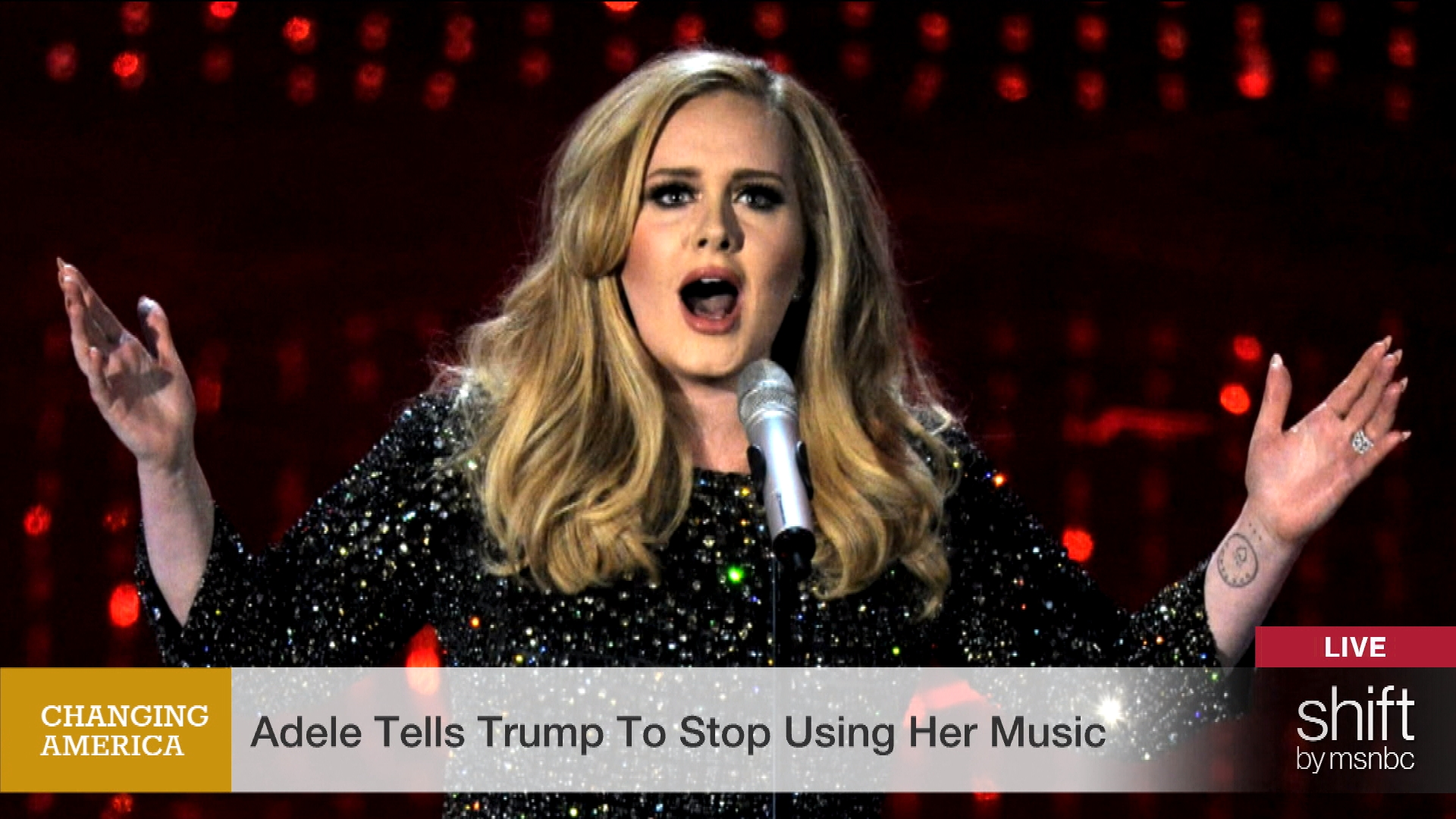 Adele doesn't want the GOP to use her songs