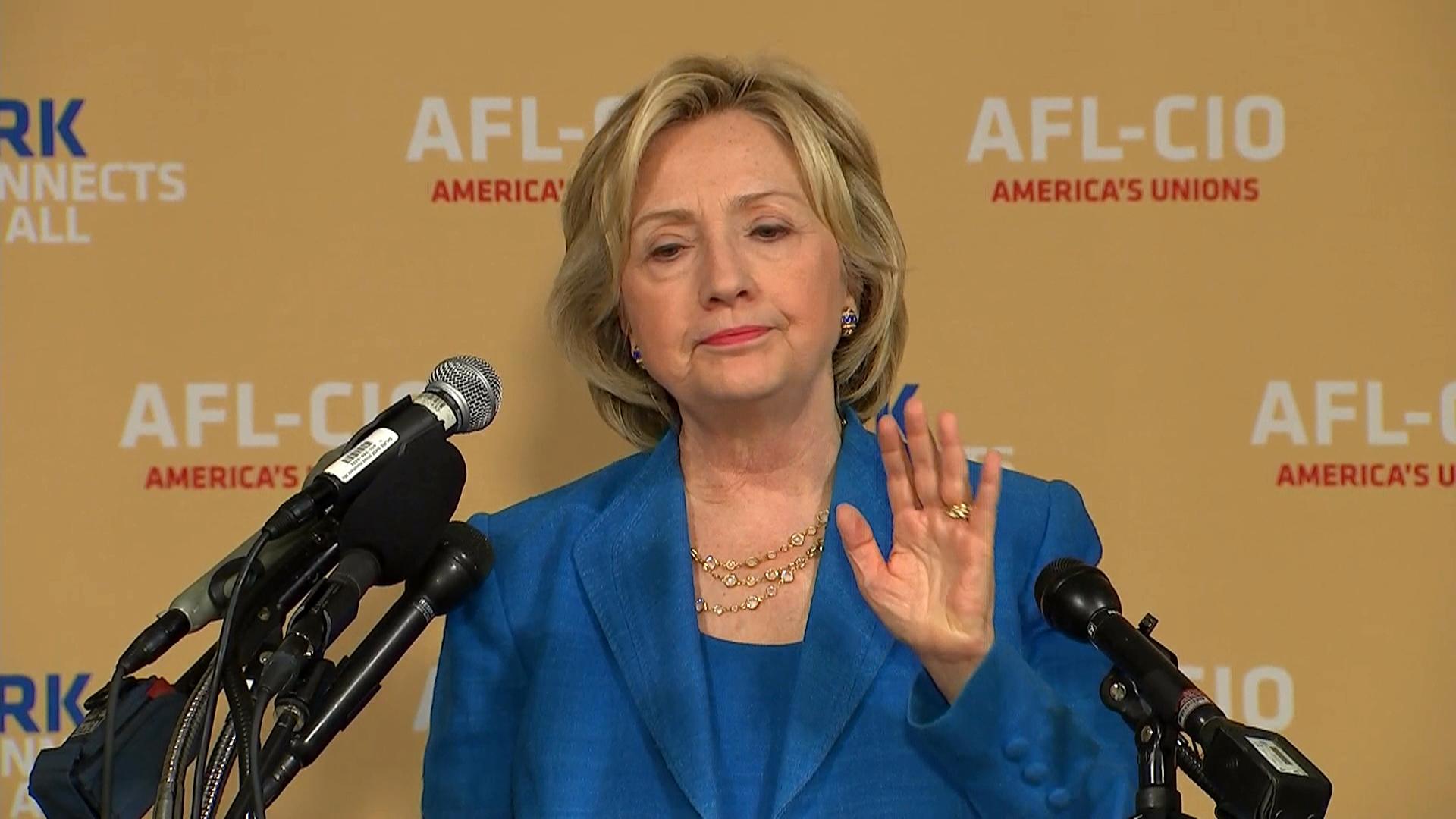 Hillary Clinton calls Republican anti...
