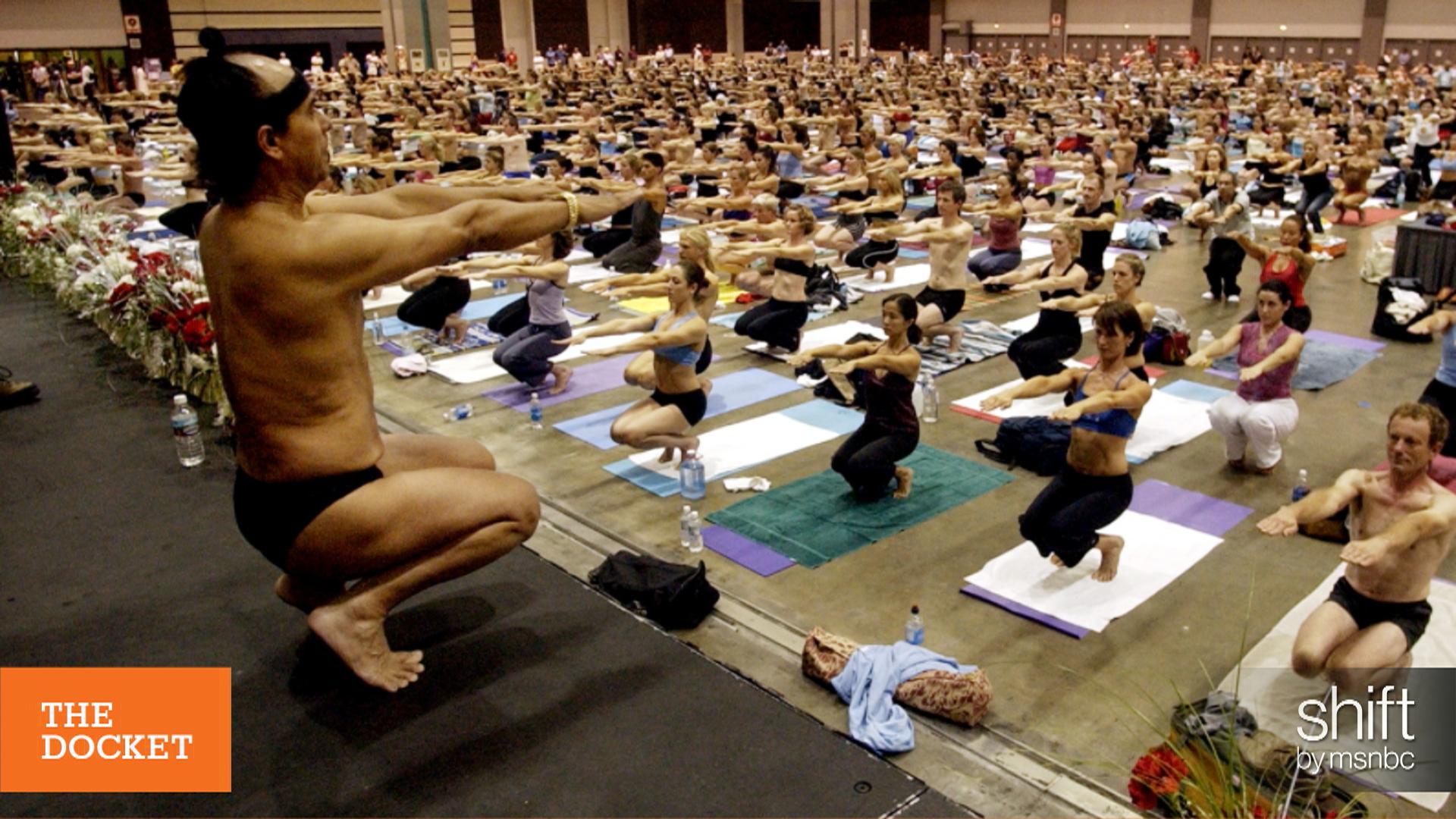 Hot Yoga guru in hot, hot water