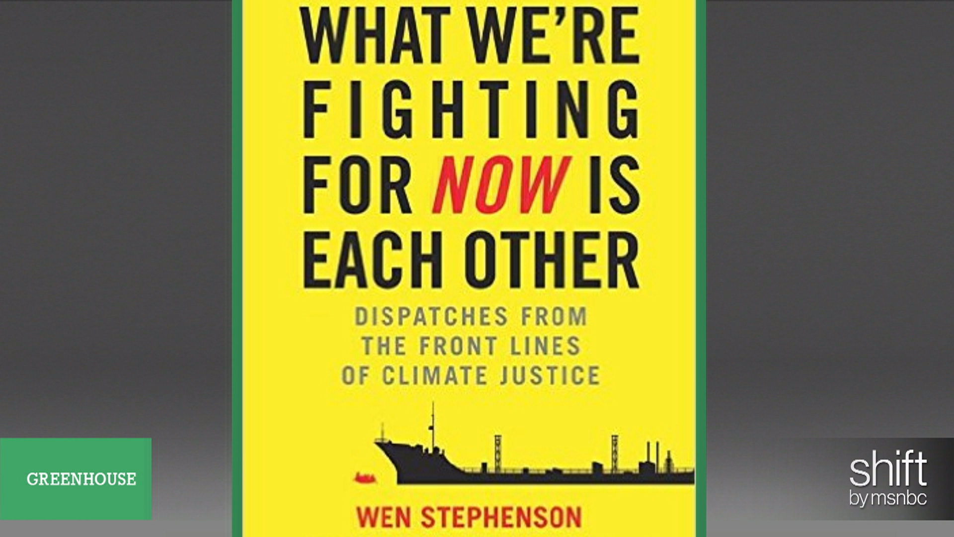 Reporter turned green activist on new book