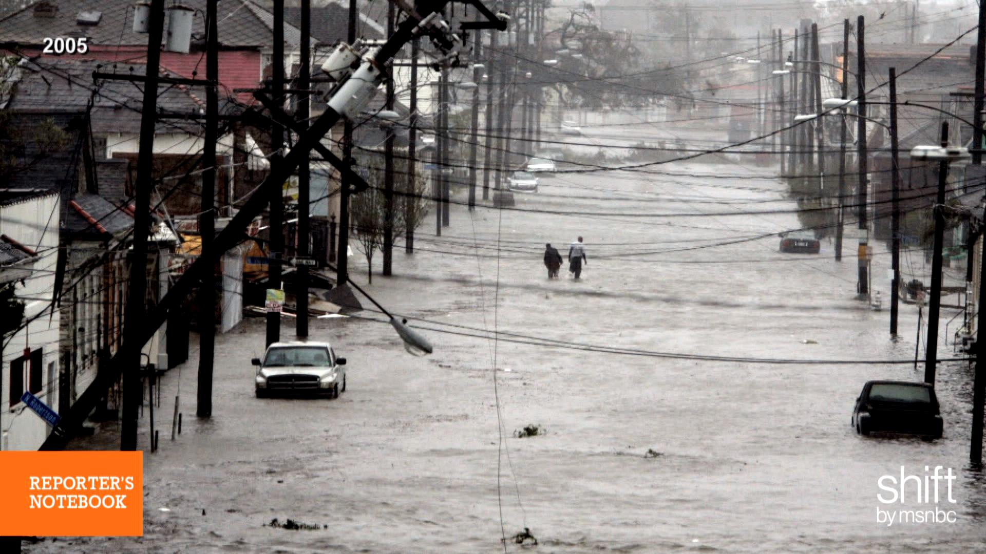 Journalists on covering Hurricane Katrina