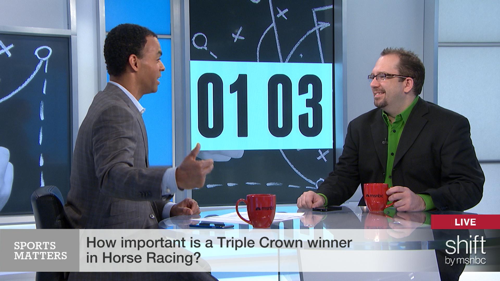 '2-minute warning': Is a Triple Crown...