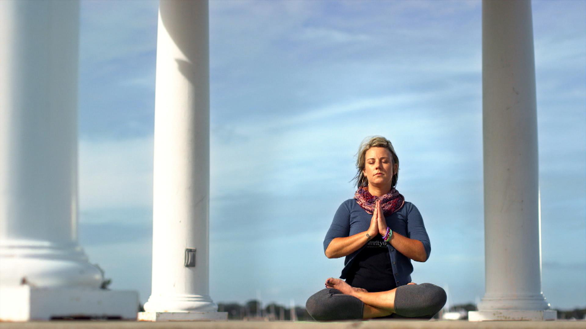 After military, using yoga to relieve stress