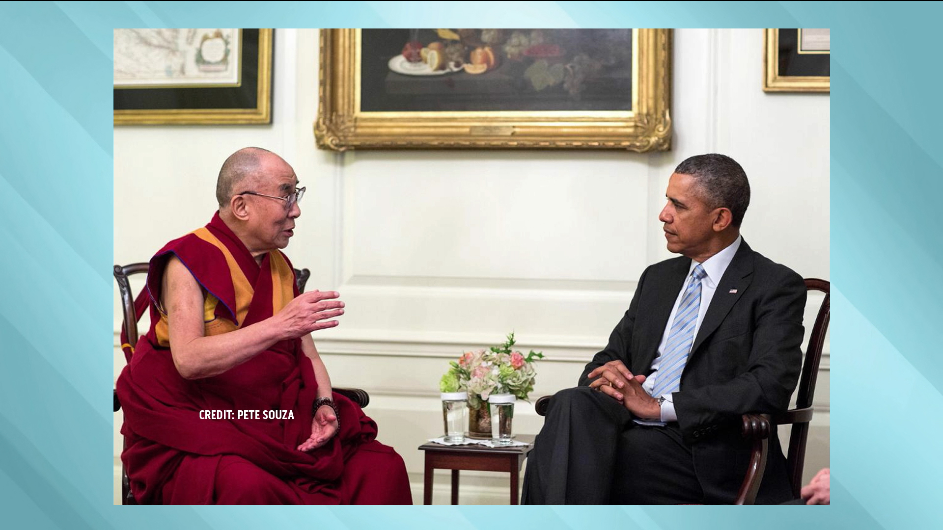 President Obama meets with the Dalai Lama