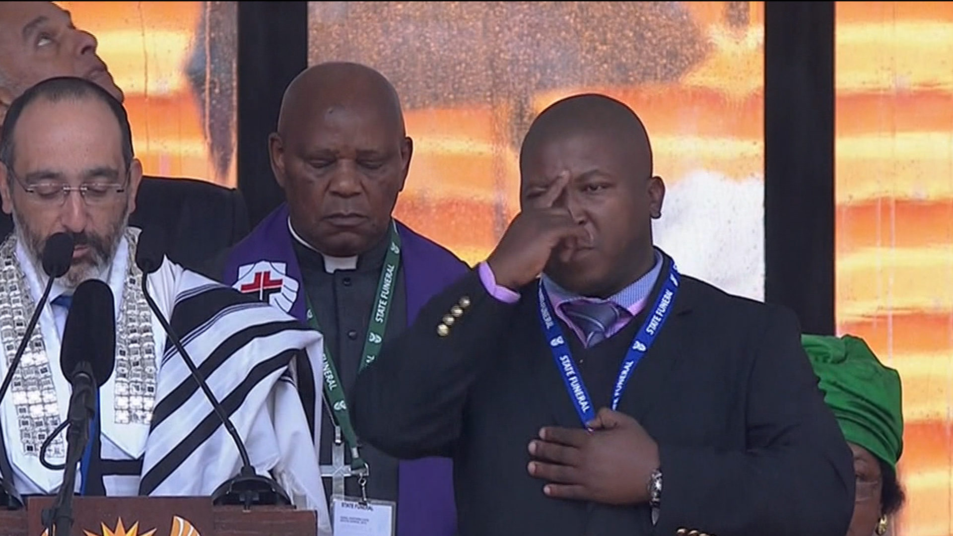 Mandela memorial interpreter 'a fake'