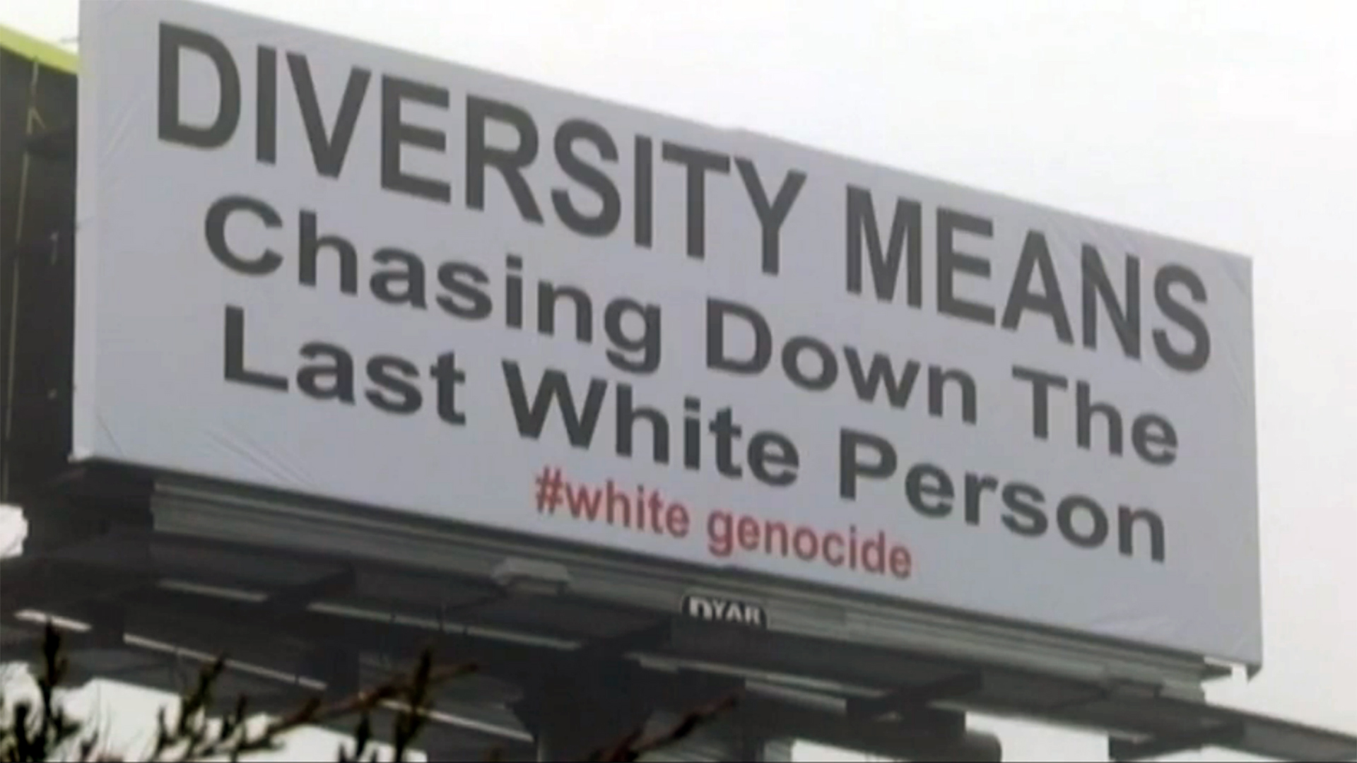 Billboard Tagged White Genocide Stirs Controversy Nbc