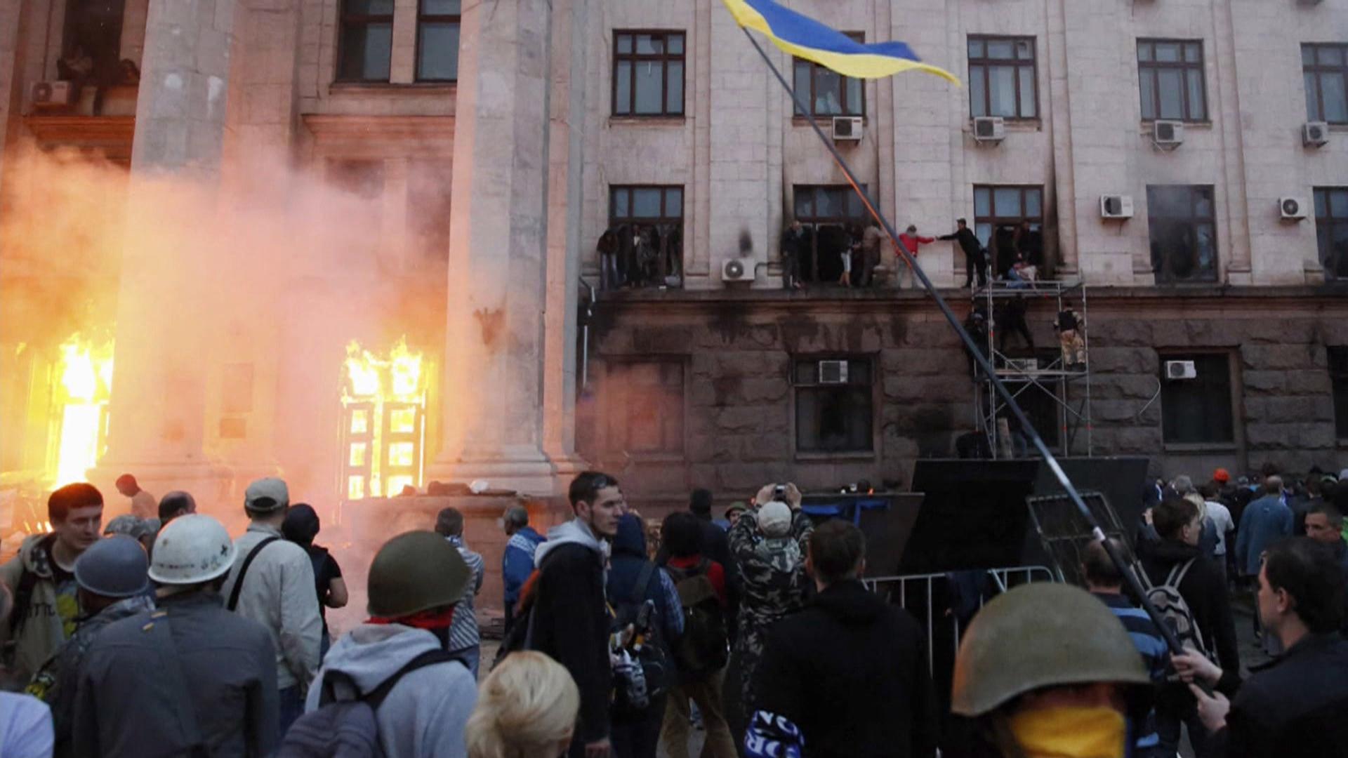 Russia Blames West for Odessa Carnage, Ukraine Warns 'It's a War'