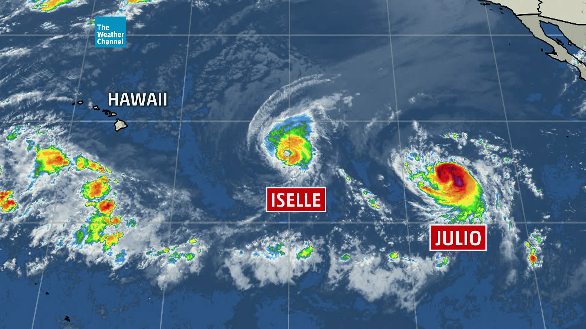 Hawaii prepares for 'extremely rare' double storm Nn_03_bwi_storms_140805