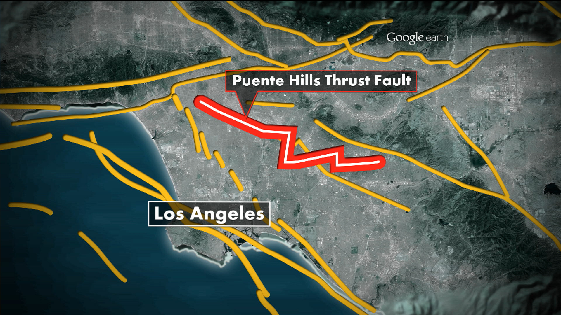 Earthquake Experts Alarmed by California's Puente Hills Fault on al jazeera map, outline of a theme park map, cnn map, coverage map, paramount map, gulf war map, cartoon network map, the west wing map, npr map, make a park map, trayvon martin map, texas state senate map, google map, world map, mexico tourism map, viacom map,