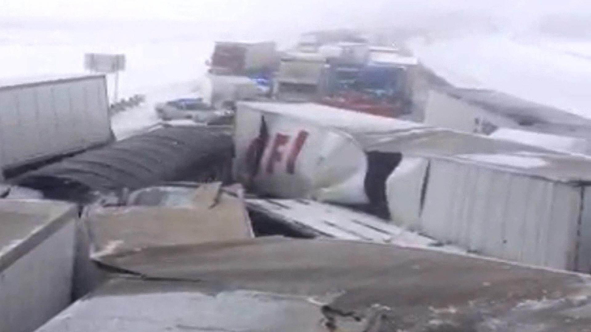 Snowy Ohio 50-Vehicle Pileup Kills 3, Badly Injures Trooper