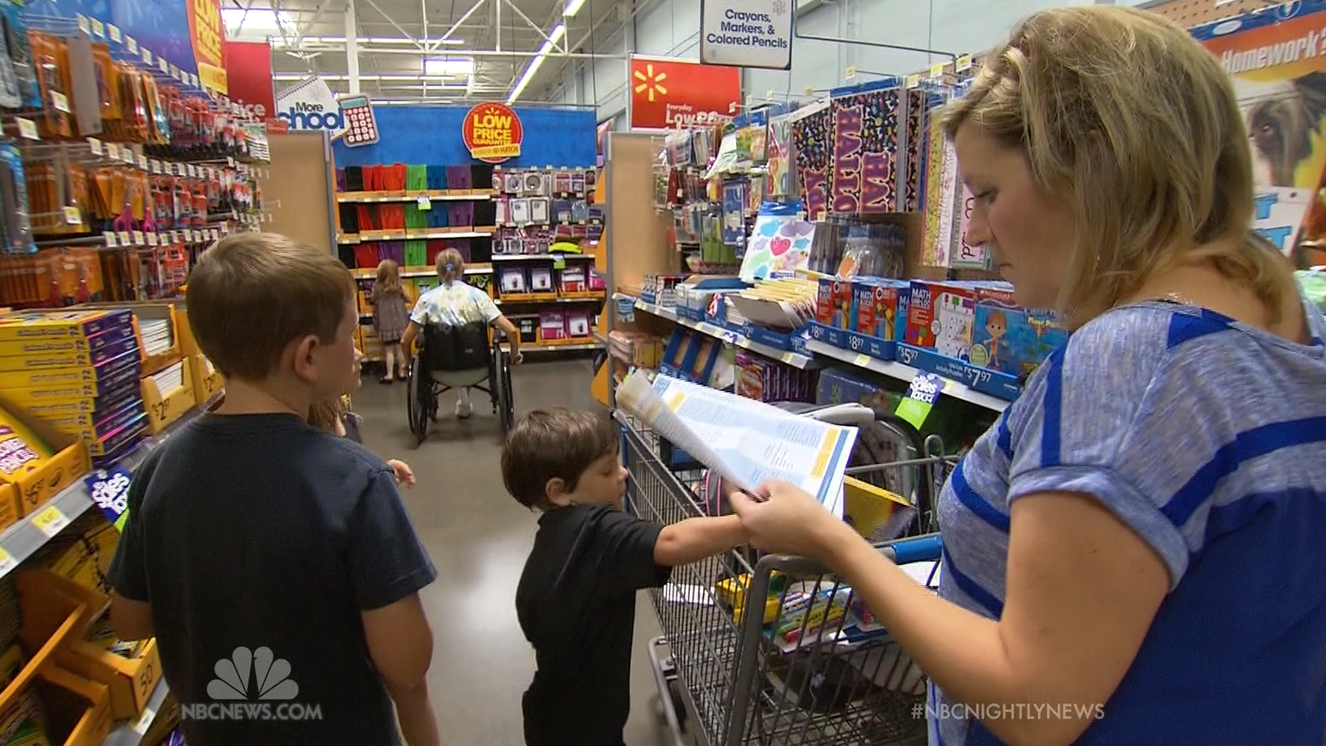 Image: Back-to-school shoppers