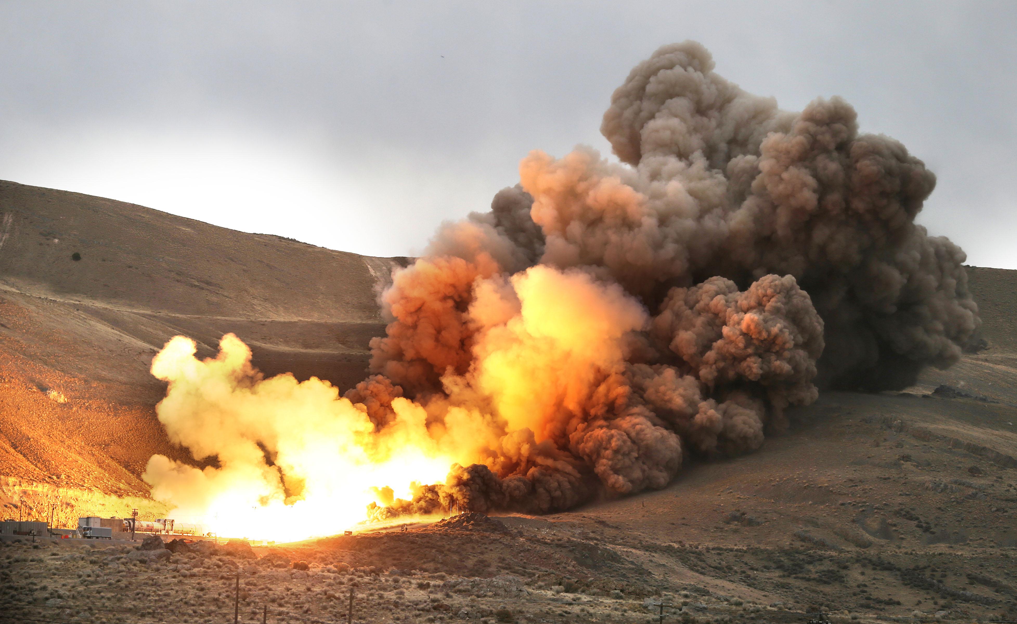 NASA Fires Up Largest Rocket Motor