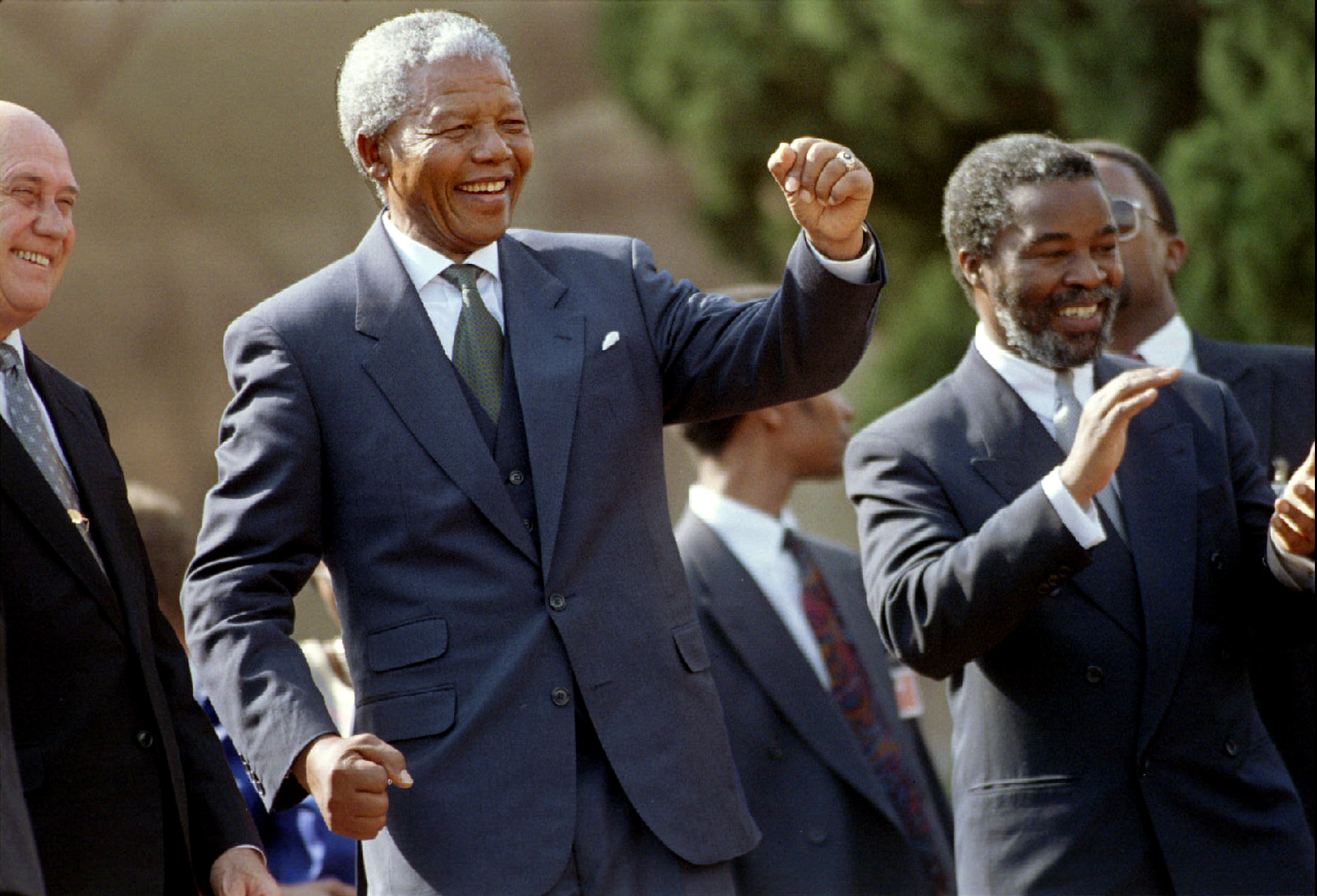 Image result for nelson mandela sworn in as president