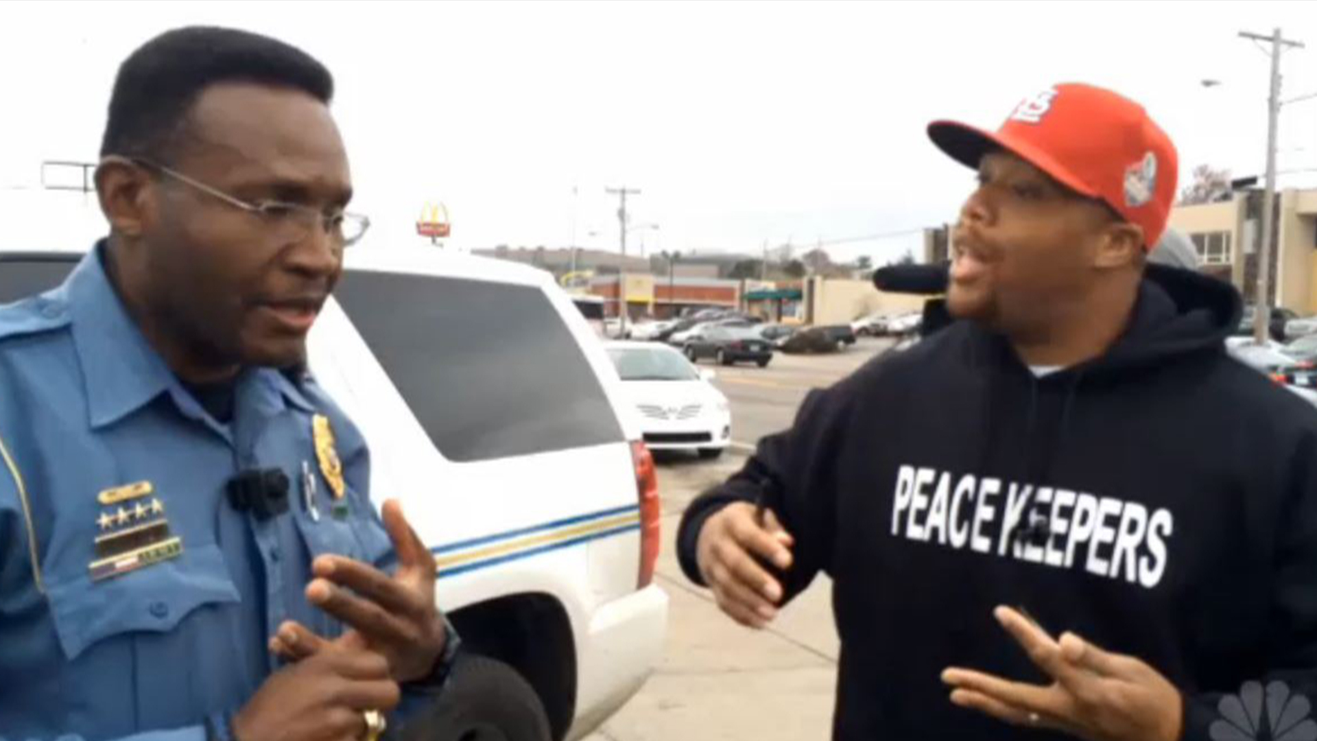 'We Need This': A Moment of Dialogue Between Cops, Community in Ferguson