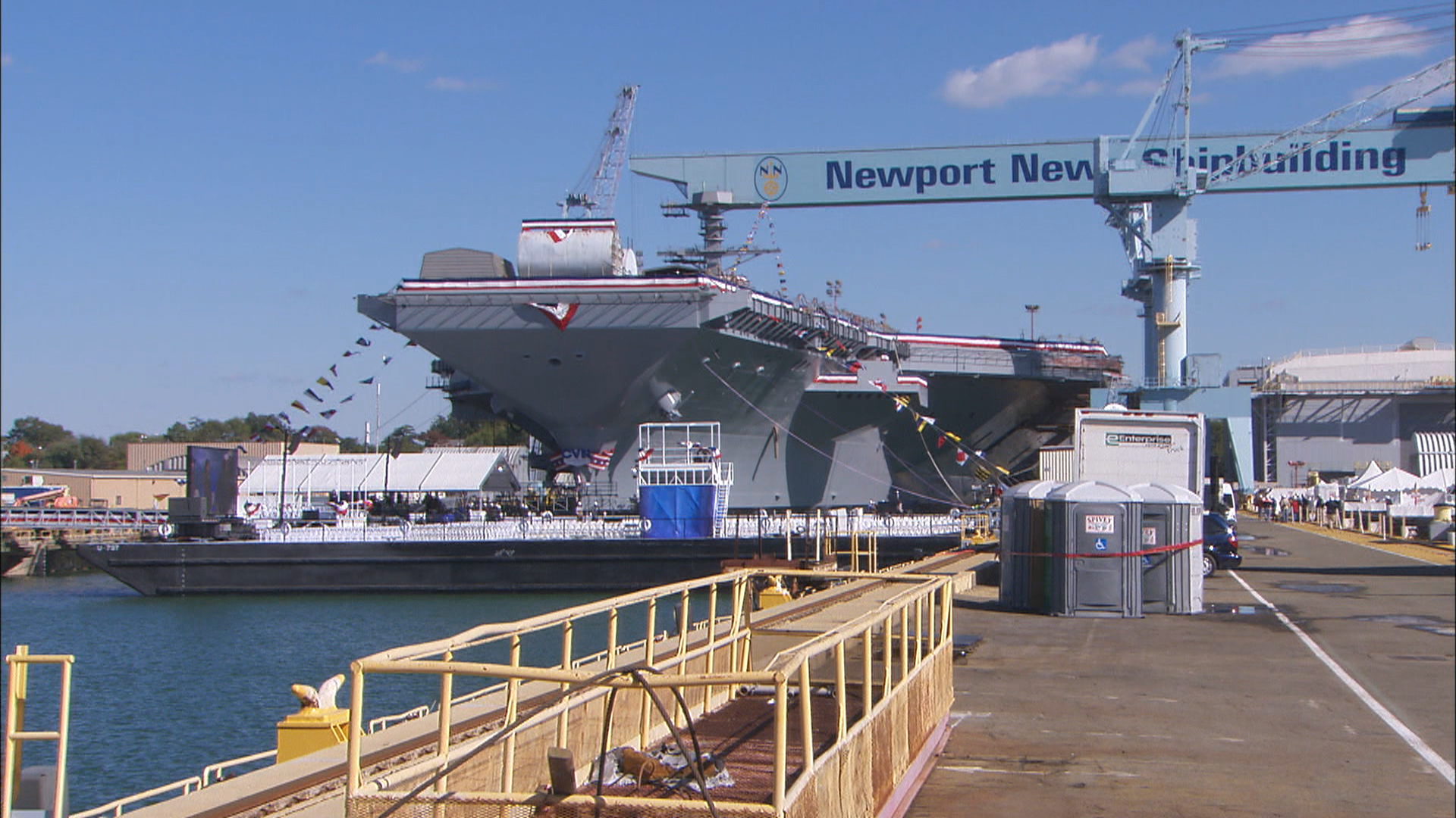 Gerald Jones Ford >> Navy christens supercarrier USS Gerald R. Ford - TODAY.com