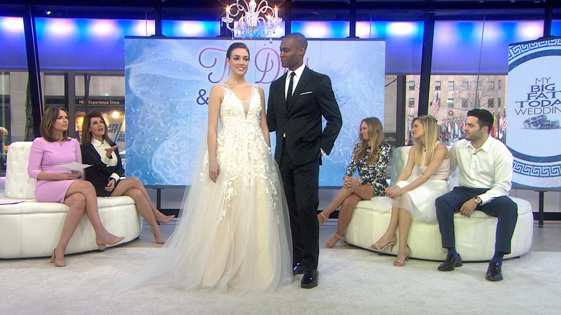 See the gown and tux options for My Big Fat TODAY Wedding unveiled