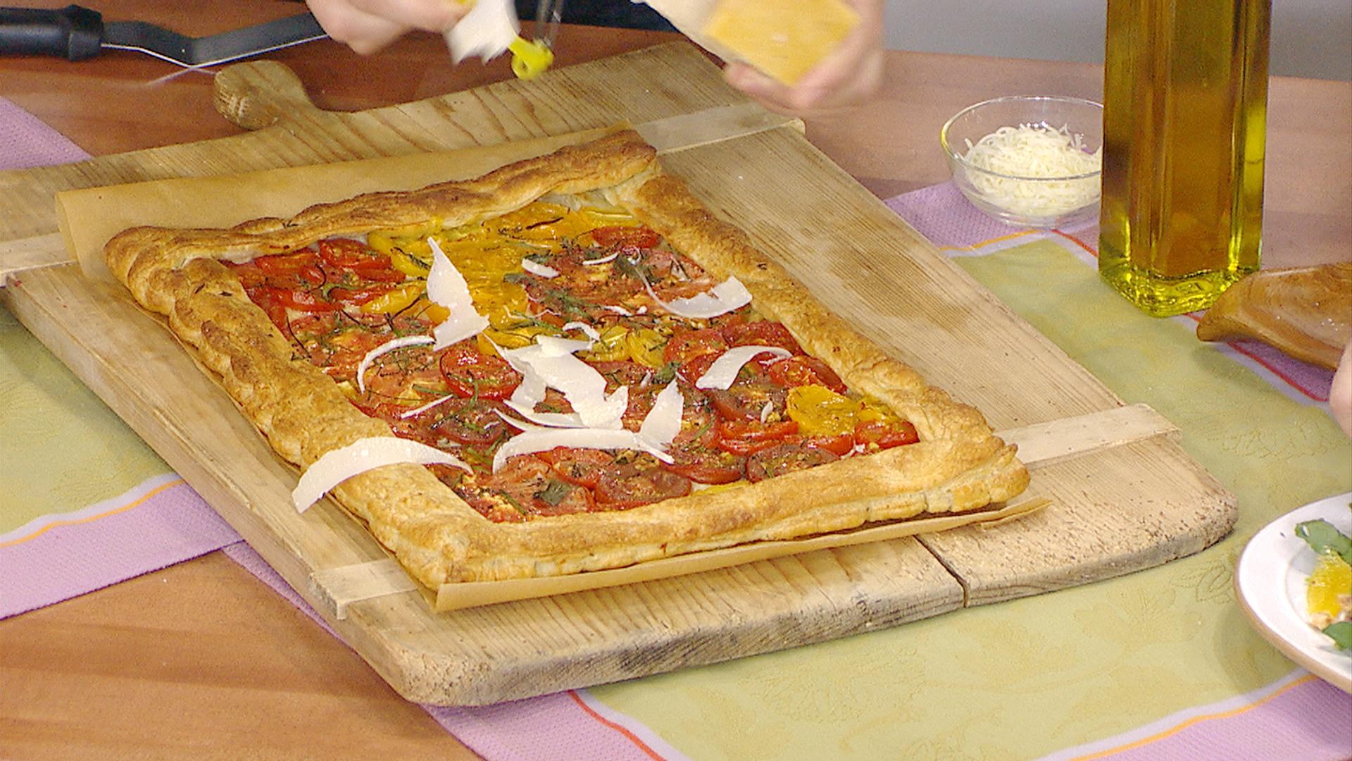 fabio viviani makes puff pastry tomato tart   today