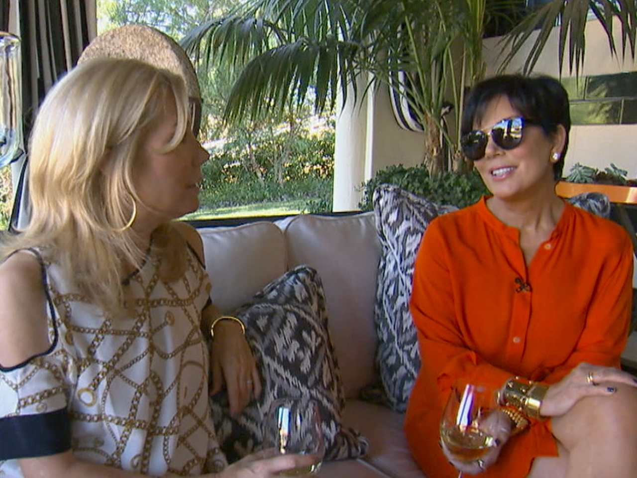 Kathie Lee Stops By The Jenner Mansion