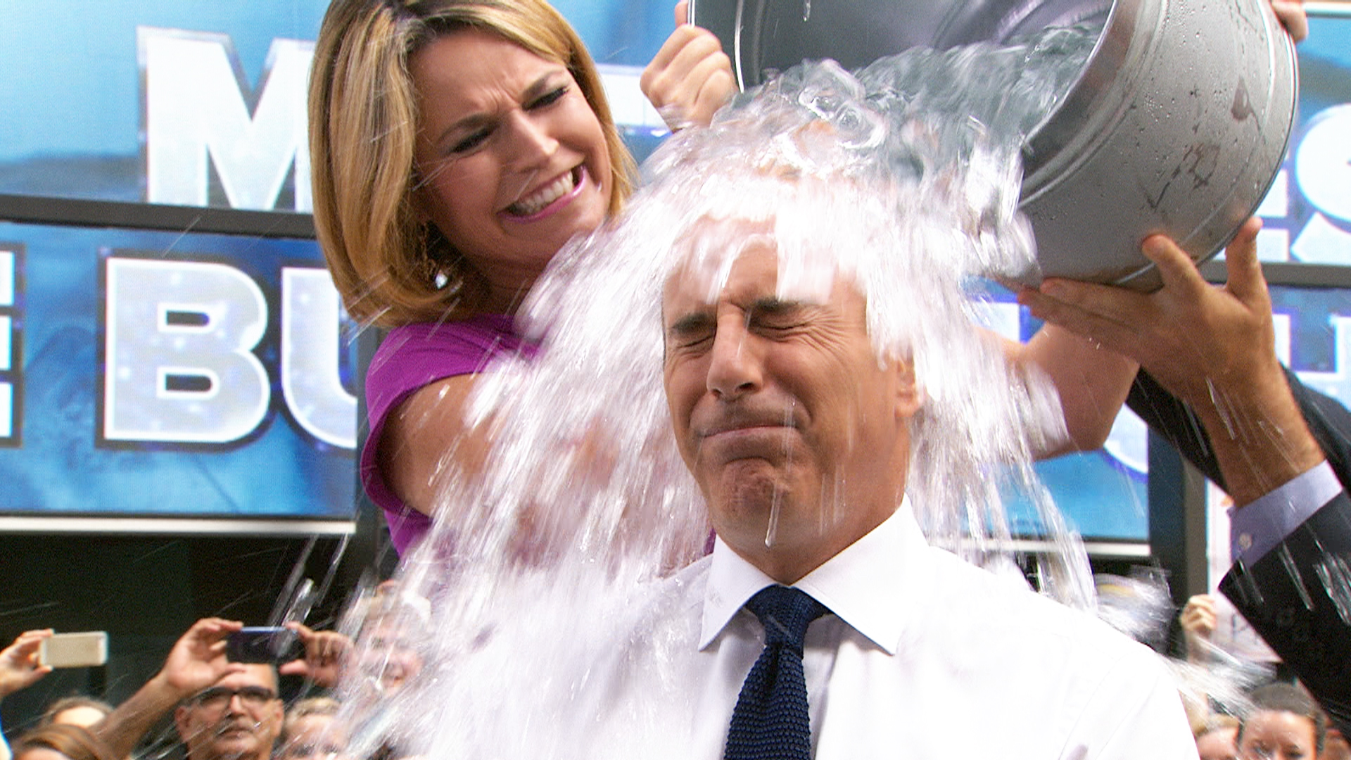 matt lauer follows through with ice bucket challenge calls out